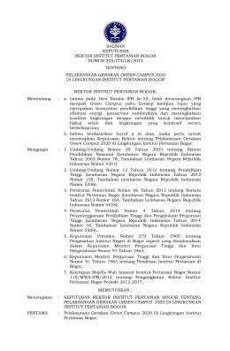 salinan keputusan rektor institut pertanian bogor nomor 205/it3/lk