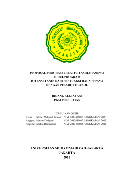 PKM-P (Penelitian) - Fakultas Teknologi Industri