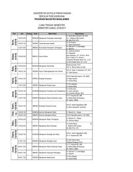 Magister Manajemen - Sekolah Pascasarjana Unpar