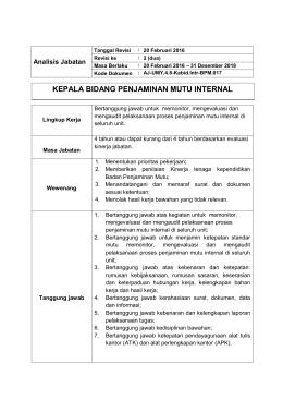 anjab-kabid-pm-internal - Universitas Muhammadiyah Yogyakarta