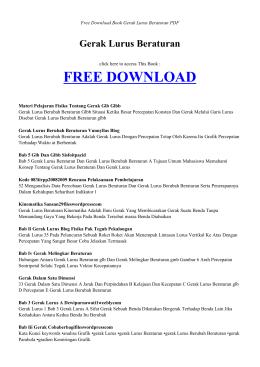 Gerak Lurus Beraturan - INDEX BOOK PDF