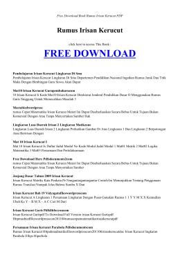 Rumus Irisan Kerucut - INDEX BOOK PDF