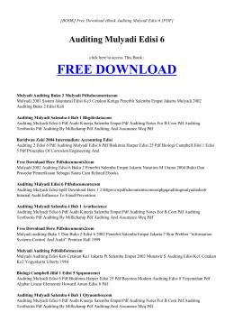 AUDITING MULYADI EDISI 6 - INDEX | Free eBook