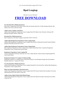 rpul lengkap | book pdf