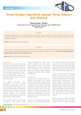Terapi Oksigen Hiperbarik sebagai Terapi Adjuvan Kaki