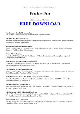 pola jaket pria - index   book pdf