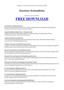 KUESIONER KEMANDIRIAN - INDEX   Free Book