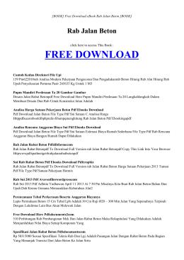 RAB JALAN BETON | ebook PDF