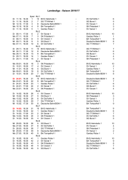Landesliga - Saison 2016/17