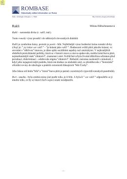 Milena Hübschmannová Rakli – neromská dívka (r. rakľi