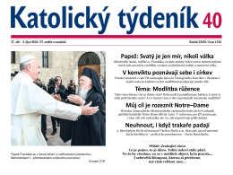 Papež: Svatý je jen mír, nikoli válka