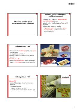 Přednáška 16 - Ústav konzervace potravin