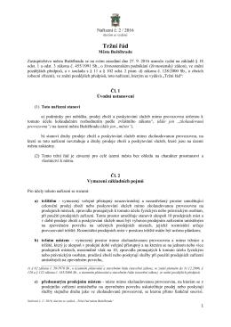 Nařízení č. 2 / 2016, kterým se vydává Tržní řád Města Buštěhradu