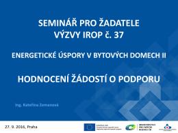 Hodnocení žádostí - Centrum pro regionální rozvoj České republiky
