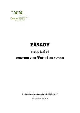 zásady - Českomoravská společnost chovatelů, as
