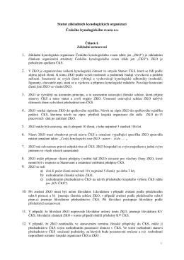 Statut ZKO s platností od 15.10.2016