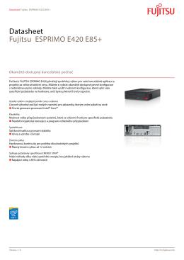 Datasheet Fujitsu ESPRIMO E420 E85+
