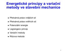 Energetické principy, Ritzova metoda, úvod do MKP