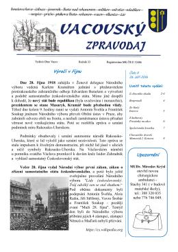 Vacovský zpravodaj č. 9/2016