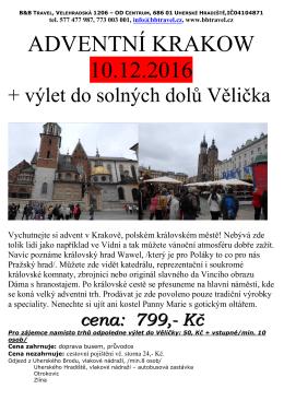 adventní krakow 10.12.2016 - Autobusová doprava