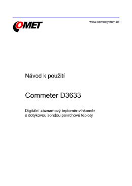 Návod na použití - COMET SYSTEM, sro