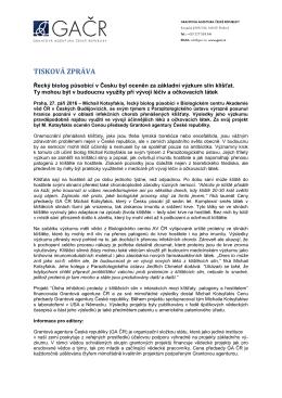 tisková zpráva - Akademie věd České republiky
