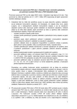 1 Doporučení pro zpracování POH obcí v Ústeckém kraji a minimální