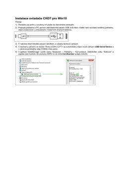 Instalace ovladače CHD7 pro Win10