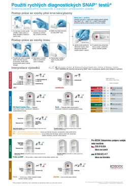 Použití rychlých diagnostických SNAP® testů