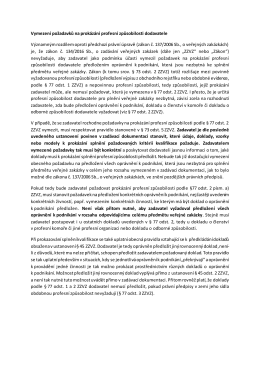 Vymezení požadavků na prokázání profesní způsobilosti dodavatele
