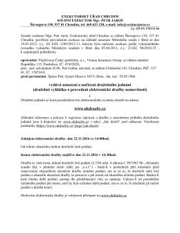 vydává usnesení o nařízení dražebního jednání (dražební