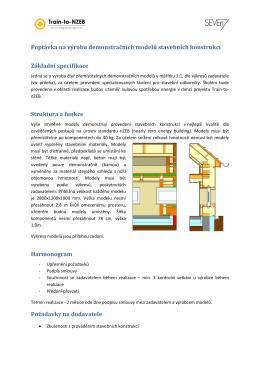 Poptávka na výrobu demonstračních modelů stavebních konstrukcí
