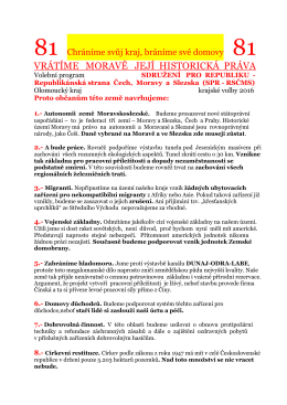Volební program – Olomoucký kraj