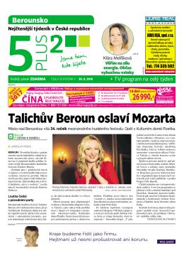 Talichův Beroun oslaví Mozarta