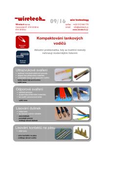 Kompaktování la Kompaktování lankových vodičů - Wiretech