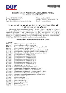 DRÁŽNÍ ÚŘAD, WILSONOVA 300/8, 121 06 PRAHA