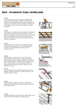 Návod - Jak namontovat stropní a nástěnné panely
