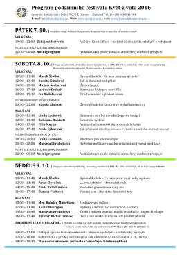 stáhnout program festivalu