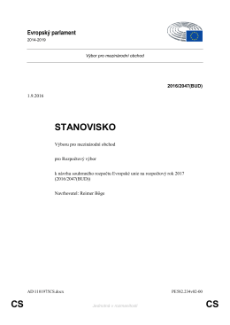 CS CS STANOVISKO