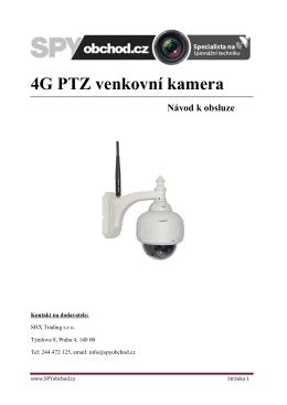4G PTZ venkovni kamera