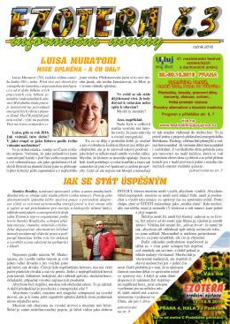 informační noviny - Festival Miluj svůj život