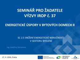 Výzva č. 37 - Centrum pro regionální rozvoj České republiky