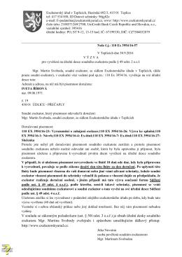 je obsah úřední desky soudního exekutora Mgr. Martina Svob