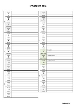 měsíční plánovací kalendář 2016 – prosinec – (dokument PDF)