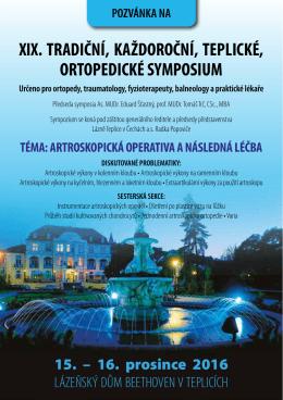 xix. tradiční, každoroční, teplické, ortopedické symposium