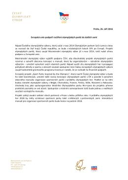 Praha, 26. září 2016 Evropská unie podpoří rozšíření