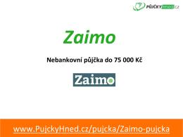 Prezentace - PujckyHned.cz
