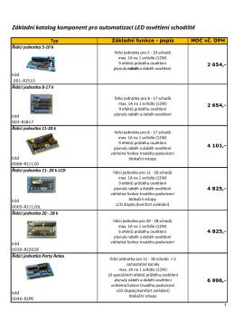 Základní katalog komponent pro automatizaci LED osvĢtlení