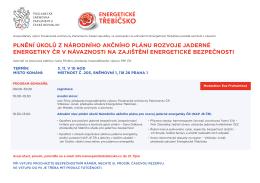 Plnění úkolů z Národního akčního plánu rozvoje JE ČR