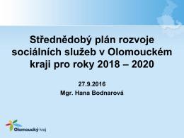 Střednědobý plán rozvoje sociálních služeb v Olomouckém kraji pro